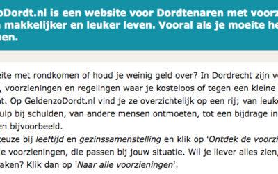 Website GeldenzoDordt.nl helpt je als je moeite hebt om rond te komen